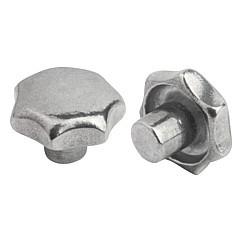 external thread M6 x 20mm made from thermoplast d1 = 32mm Triangular knob screw