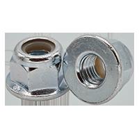 3//8-24 Hex Serrated Flange Nuts Case Hard Zinc 100