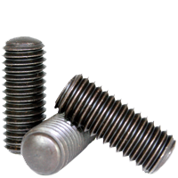 Set Screws Oval Point Quantity: 50 Length: 3//8 inch 1//4-28 x 3//8 Fine Thread Alloy Steel 1//4 inch Grub//Blind//Allen//Headless Screw Hex Socket,