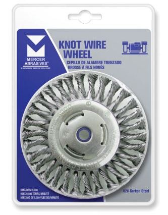 Mercer Industries 186511B Premium Knot Wire Wheel 4 x 1//2 x 5//8-11 For Angle Grinders 10 Pack