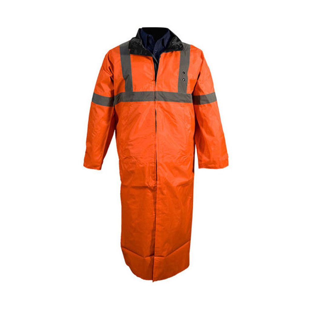 Tact Squad Reversible Long Raincoat (ORANGE/BLACK)