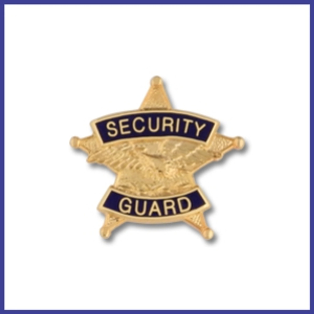 Hookfast Five Point Star Security Guard  Emblem QS-4774