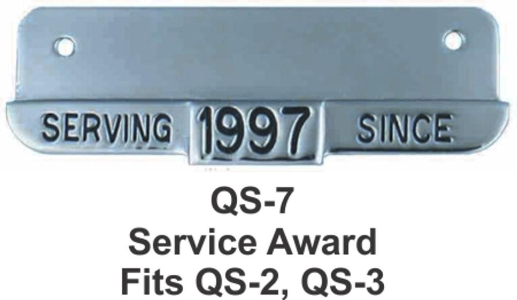 Hookfast Service Award Plate QS-7