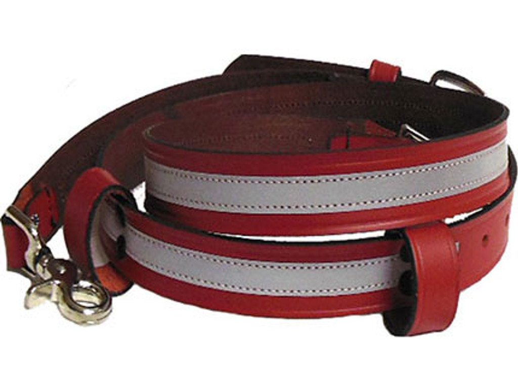 Perfect Fit RED REFLECTIVE Fire Radio Strap (Leather)