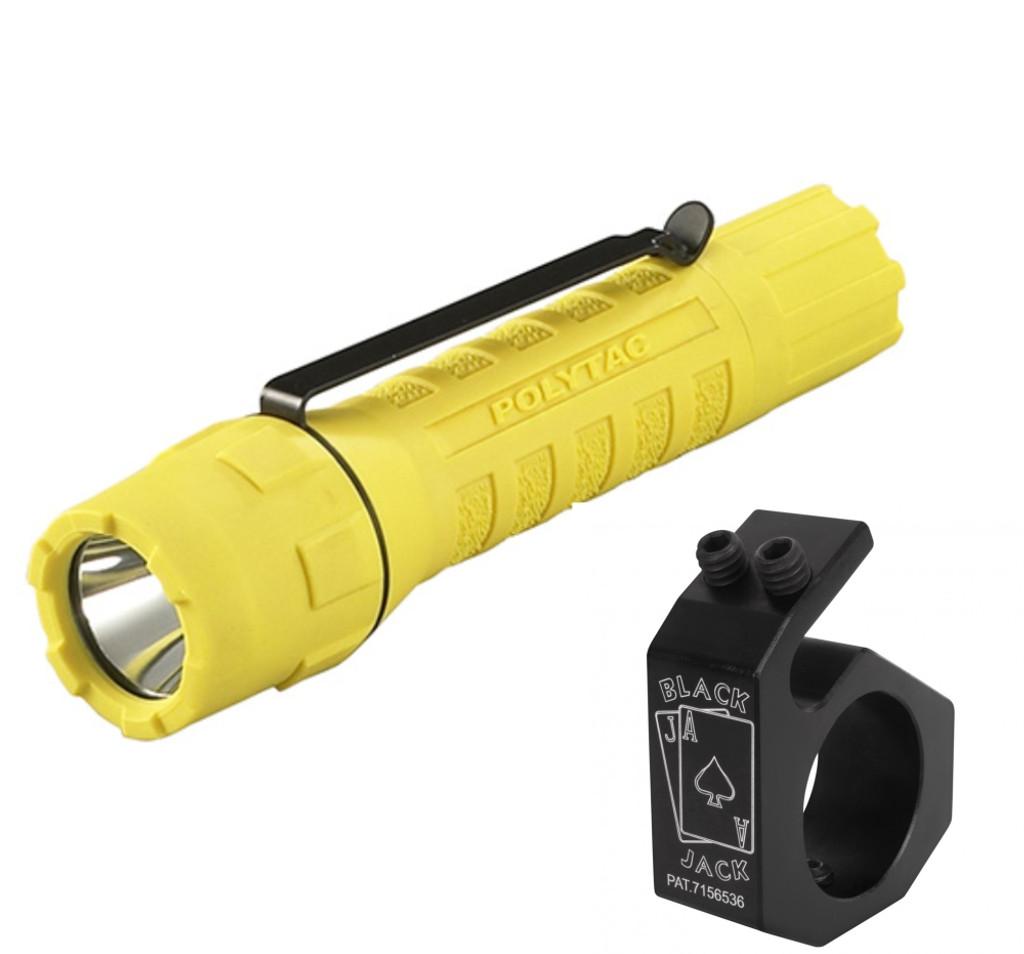 Streamlight PolyTac LED Flashlight with Blackjack Mount Holder BJ003