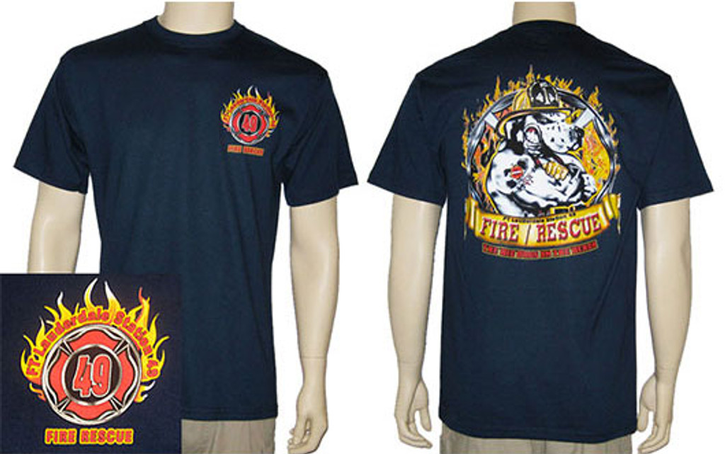 Ft. Lauderdale Fire Rescue Station 49 Duty T-Shirt **DISCONTINUE**