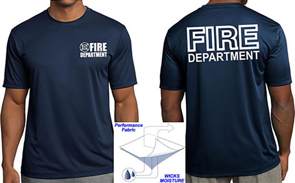 Fire Department Wicking Performance T Shirt