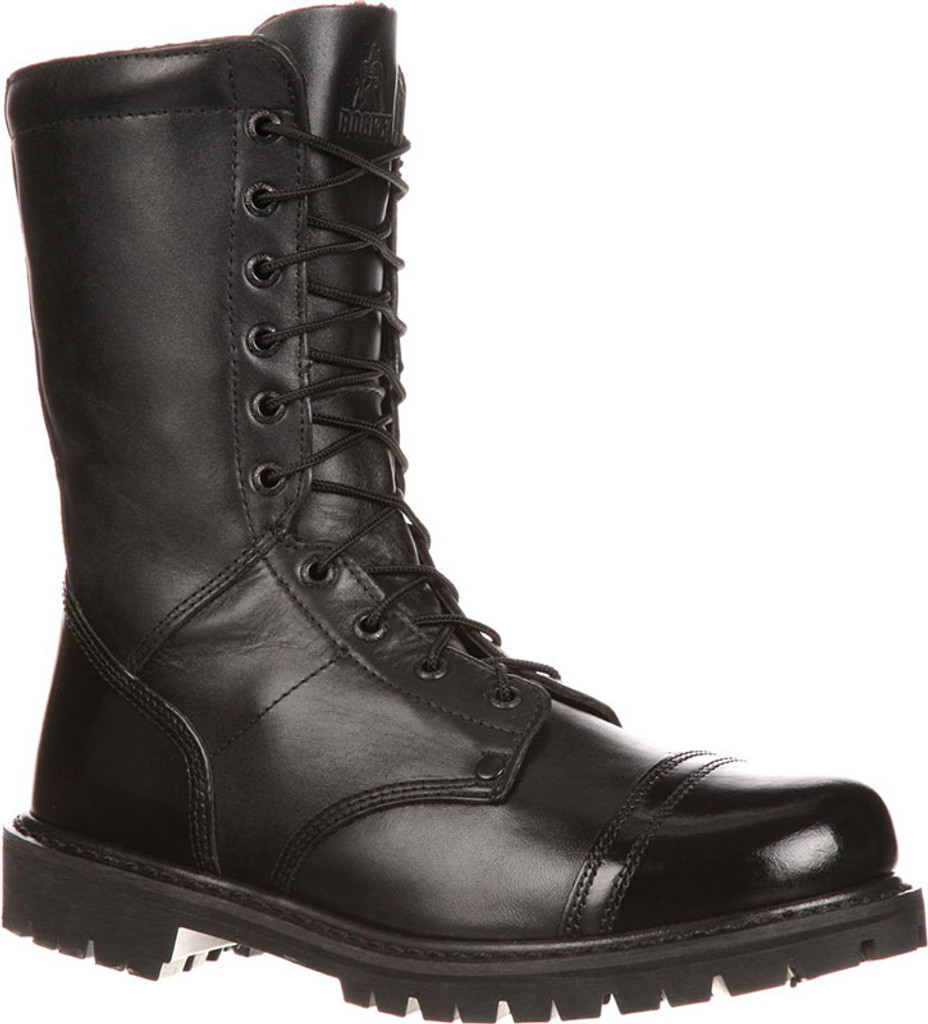 "Rocky Men's 10"" Paratrooper Side Zipper Jump Boots (All Leather)"