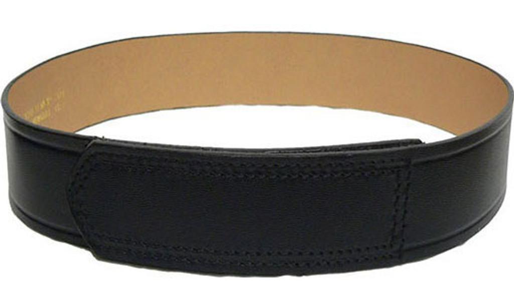 DutyMan Leather Trouser Belt w/Velcro Tip (Plain Black)