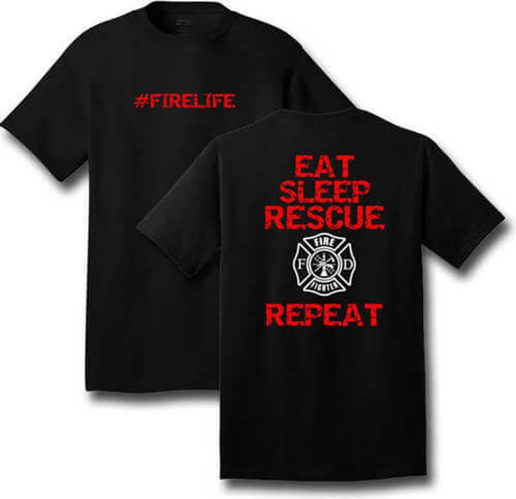 #FIRELIFE T-Shirt (Black) **CLOSEOUT**