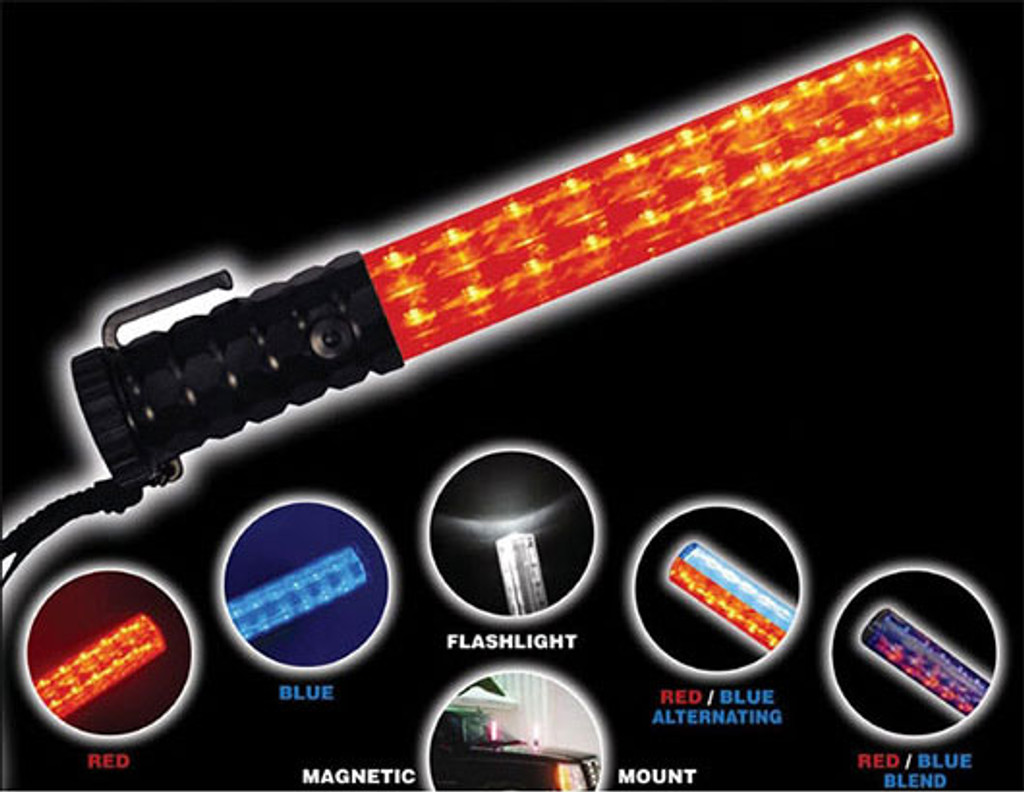 Flashback Five LED Light Baton (RED/BLUE LED's)