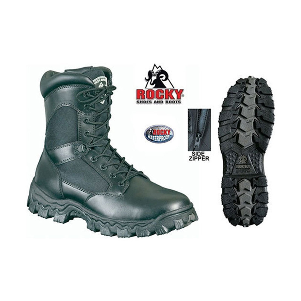 Rocky AlphaForce Side Zip WATERPROOF Duty Boot