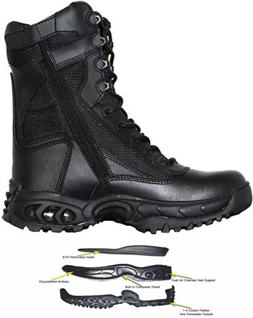 Ridge Air-Tac PLUS Side-Zipper Duty Boot - SIZE 12R MEN/ 13.5 WOMEN [35% OFF]
