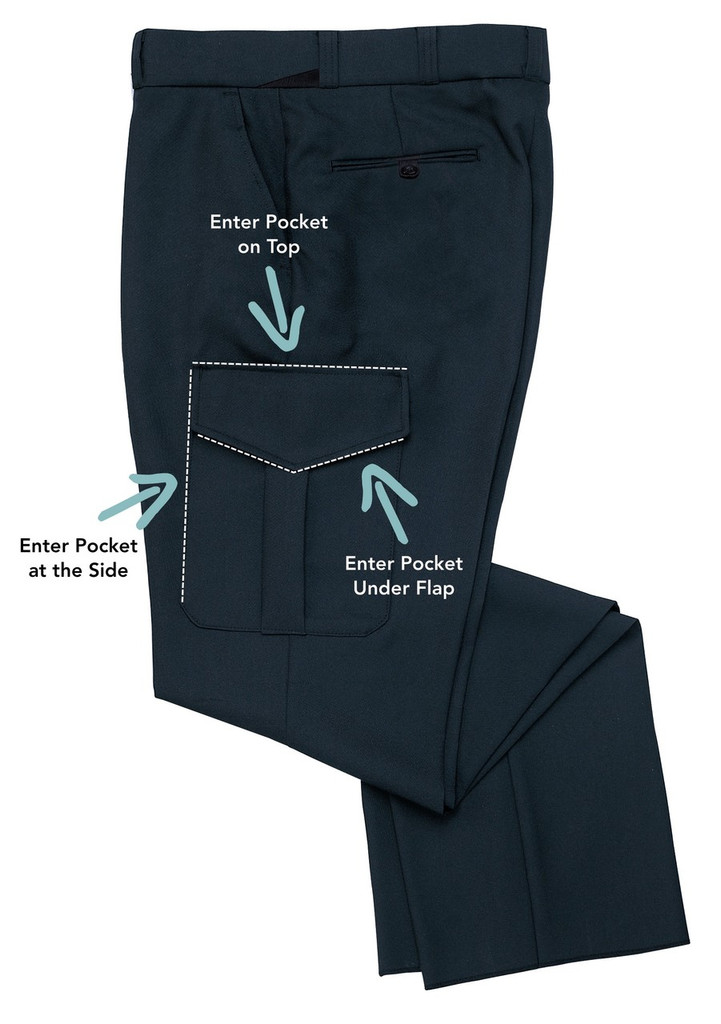 COMFORT ZONE® SYNATURAL® CARGO TROUSER 68% Polyester | 32% Synatural®