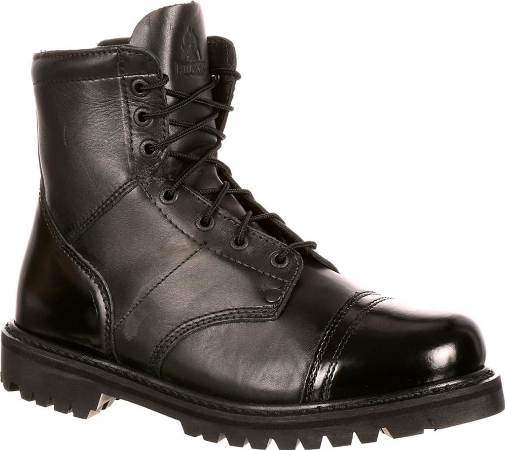 "Rocky Men's 7"" Paratrooper Side Zipper Jump Boots (All Leather) [50% off]"