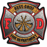 Decal - FD Maltese Assistant Chief (4 Inch)