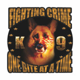 Decal - K-9 Crime Fighter (GOLD) (4 Inch)