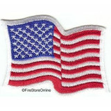 American Flag Shoulder Patch (Wavy - White Border)