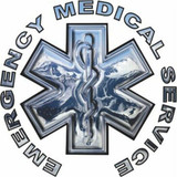 Chrome Star of Life EMS (Window Size)