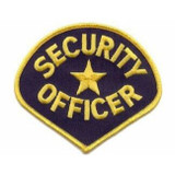 Patch - Security Officer Teardrop (Navy with Gold Border)
