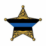 Thin Blue Line Decal - Window Size (STAR)