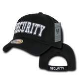 Security Air Mesh HAT (3D Puff Embroidery - BLACK)