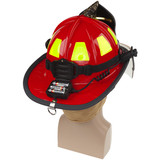 NightStick Low-Profile Dual-Light Headlamp (Fits Fire Helmets) - Battery Compartment Open