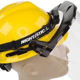 NightStick Low-Profile Dual-Light Headlamp (Fits Fire Helmets) - Hard Hat Visor Clearance