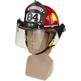 NightStick Low-Profile Dual-Light Headlamp (Fits Fire Helmets) - On Fire Helmet