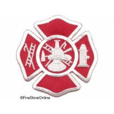 Patch - Fire Dept Maltese (Red/Grey)
