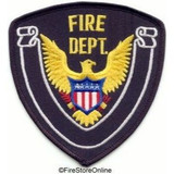 Patch - FIRE DEPT (Black with Black Border)