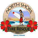 Decal - Northshore Oahu Fire Dept. (window size)