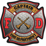 Decal - FD Maltese CAPTAIN (4 Inch)