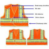 GloWear Public Safety Hi-Viz Traffic Vest (Orange/Lime)