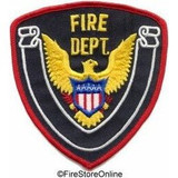 Patch - FIRE DEPT (Black with Red Border)