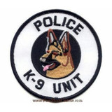 Patch - POLICE K9 UNIT (Black on White)