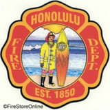 Decal - Honolulu Fire Dept. (Window Size)