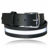 Boston Leather Uniform Trouser Duty Belt with Reflective Ribbon