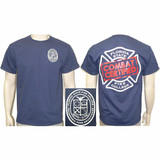 Florida State Fire College COMBAT CERTIFIED T-shirt (Navy Blue)