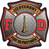 Decal - FD Maltese Lieutenant (4 Inch)
