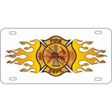 LICENSE PLATE - Flaming Maltese Cross