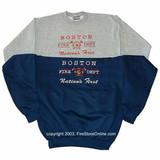 Boston Fire Department Premium Embroidered Sweatshirt
