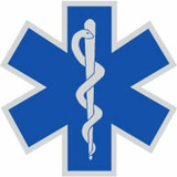 Decal - Star of Life (Helmet Size)