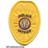 Patch - Police Officer Badge (Gold)
