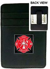 Firefighter Money Clip / Cardholder (w/ Pewter Emblem)