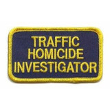 Patch - TRAFFIC HOMICIDE INVESTIGATOR (Navy with Gold Border)