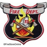 Patch - Fire Dept (Shield with Scramble)