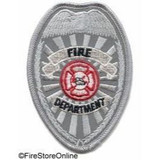Patch - Fire Dept REFLECTIVE Badge (Silver)