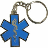 Key Chain - Star of Life (Blue)