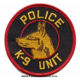 Patch - POLICE K9 UNIT (Red on Black)